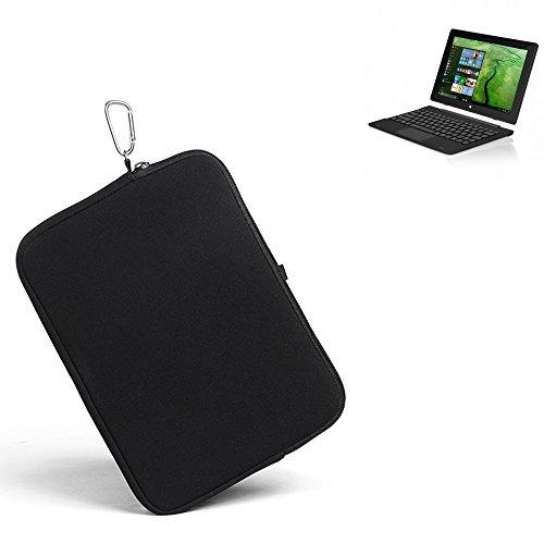 K-S-Trade® für TrekStor SurfTab Twin 10.1 Neopren Hülle Schutzhülle Neoprenhülle Tablethülle Tabletcase Tablet Schutz Gürtel Tasche Case Sleeve Business schwarz für TrekStor Surft