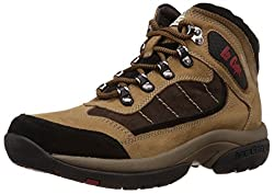 Lee Cooper Mens Camel Leather Trekking and Hiking Boots - 9 UK