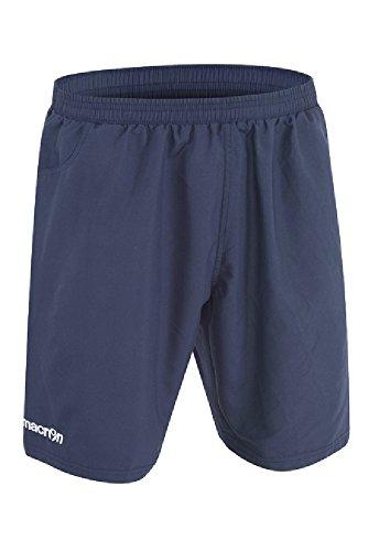 Calzoncini Corti Uomo Pantaloncini Microfibra Con Tasche Macron Bop Bermuda Blu Navy