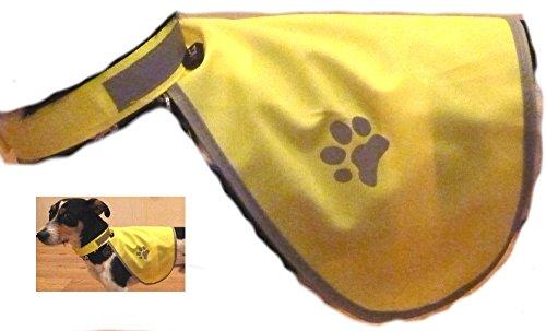 Hunde Warnweste Sicherheitsweste mit Reflektoren Gösse S