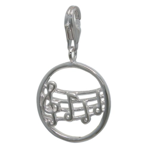 Melina Damen-Charm Anhänger Noten 925 Sterling Silber 1801521 (Musik Note Bettelarmband)