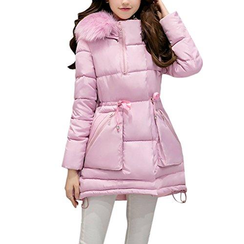 Zhhlaixing Damen Mantel Wintermantel Winterparka Women's Fashion Down Padded Slim Thick Long Winter Warm Hooded Jacket Ladies Coats