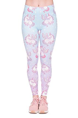 Leggings Fullprint Damen Legging Print Farbig Workout Bunt Voll Bedruckt Blickdicht Hose Gym Fitness...