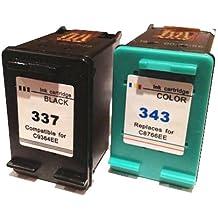 343 337 Tinta impresora Cartuchos compatibles para HP 343 + 337 HP Deskjet OFFICEJET PHOTOSMART