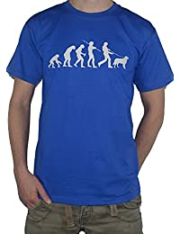 Evolution Golden Retriever T-Shirt - Funny Tee - Ape to Man / Dog Walking Top by My Cup Of Tee