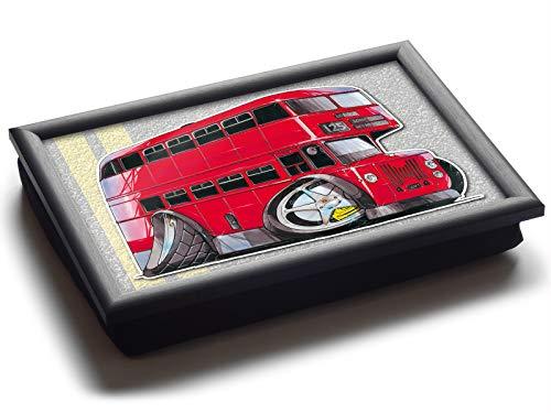 Koolart Cartoon London Doppeldecker-Bus Luxus Sitzsack Schoß Tablett Ablage