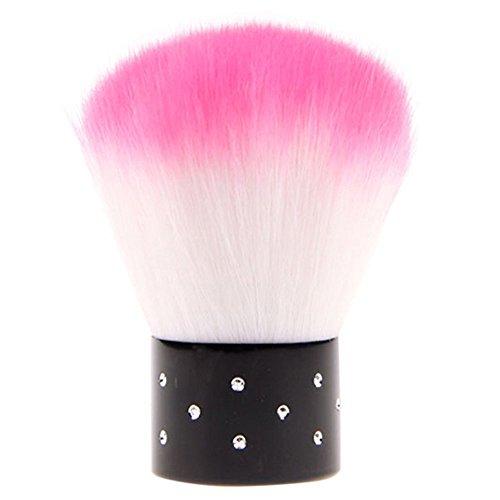Sungpunet - pennello per rimuovere la polvere cosmetica dalle unghie, con mini strass. fornito in colore casuale