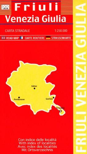 Friuli Venezia Giulia 1:250.000 (72x63) (Carte stradali) por Litografia Artistica Cartografica (LAC)