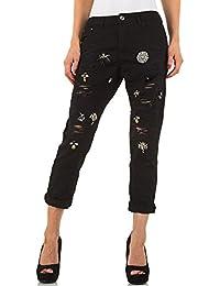 Destroyed Relaxed Fit Jeans Für Damen bei Ital-Design