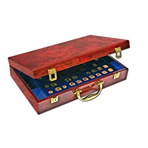 Mallette en bois pour 308 monnaies de diamètres variés 169