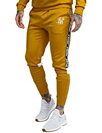 618ee13e SikSilk Cuffed Cropped Poly Tape Pants Men Gold