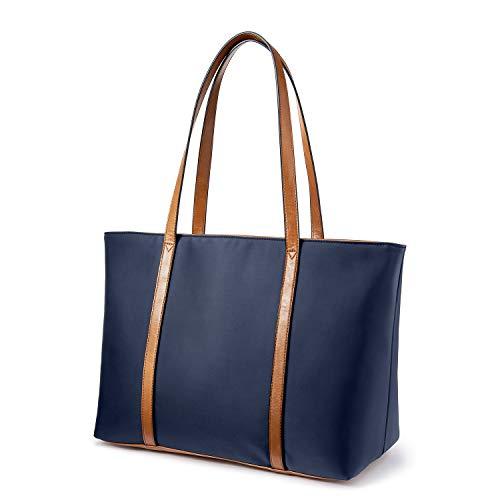 LOVEVOOK Handtasche Damen, Shopper Damen Tasche Große Arbeit Handtaschen, Gross Oxford-Nylon Schultasche, Umhängetasche für Einkaufen Arbeiten Reisen-Blau -