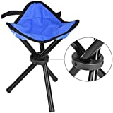 GSQUARE® Foldable Stool Portable Tripod Travel Chair Stool for Outdoor Travel (Multiple Colors)