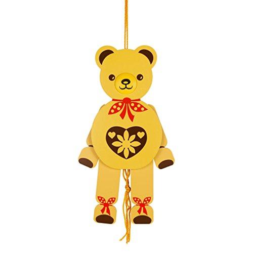 DREGENO Hampelmann Hampelfigur Teddy-Bär, Geschenk für Kinder und Babys, von DREGENO SEIFFEN 26 cm - Original erzgebirgische Handarbeit
