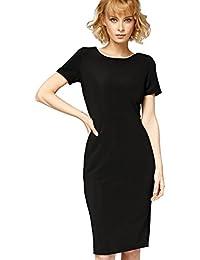 Misfit London Serena' Black Vintage Inspired Wiggle Dress