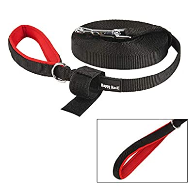 Kaka mall Long Line Dog Training Lead Running Leash Rope Padded Handle For Small Puppy Medium Large Dogs, Black, from Kaka mall