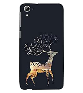 PrintDhaba Deer D-2028 Back Case Cover for HTC DESIRE 826 (Multi-Coloured)