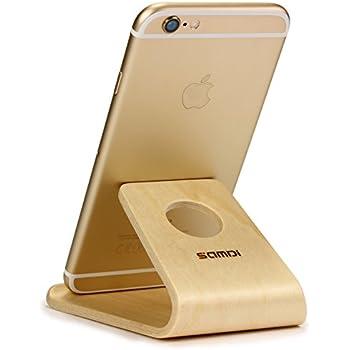 Handyhalterung aus holz massive esche natur for Tisch iphone design
