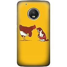 Rooster and Cat Joke Funda Carcasa Case para Motorola Moto G5S Plus