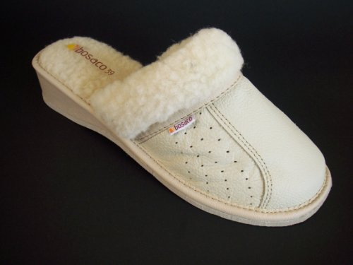 100 14euro Bege Lã Beige Couro Chinelos 14euro Wolle Leder Hausschuhe 100 qHWHPrtwOn