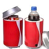 Tofree Mini Kühlschrank, automatisch Netzteil Tragbar KFZ USB Cola Dosen Kleinen Kühlschrank Dosen Elektronischer Kalt Größe: 11* 18cm