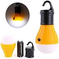 F-blue Lámparas LED portátil Tienda de campaña de Emergencia de la lámpara de luz Blanca hasta el Gancho de Ahorro de energía al Aire Libre Senderismo Linterna 4pcs / Set