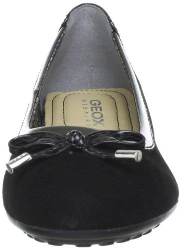 Geox D Piuma Ball H D34D8H02354C6029, Ballerines femme Schwarz (BLACKC9999)