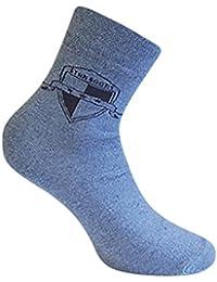 8 Paar Herren Kurzsocken Socken mit Komfortbund ohne Gummi mehrfarbig mit Muster