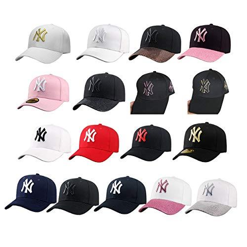 Imagen de lorenlli sombrero unisex de béisbol al aire libre del pato de la lengua del pato ny de nueva york  de béisbol envejecida teñida lavada del camionero lavado alternativa