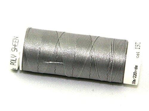 Mettler-Polysheen Polyester Maschine Stickgarn 200m 200m 1972Asphalt-Pro Spule + Gratis Minerva Crafts Craft Guide -