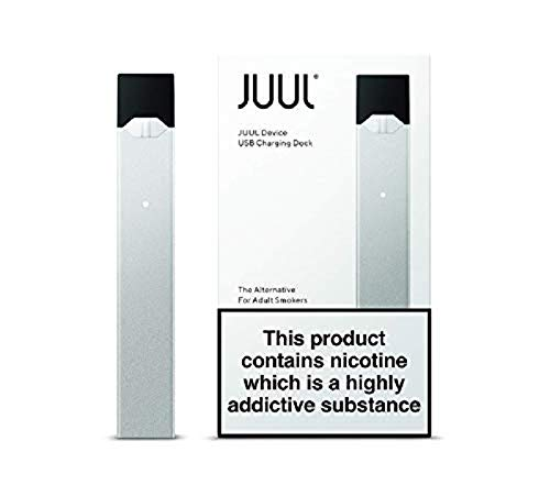 JUUL Device Kit, Silver, E-cigarette (No JUUL Pods included)