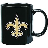 New Orleans Saints NFL Offizielle Tasse, Becher, Kaffeetasse Black Glossy Groß 425 ml