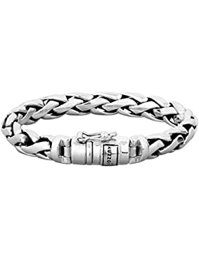 KUZZOI Silberarmband Herrenarmband aus massivem 925er Sterling Silber, Breite 10 mm, 335105