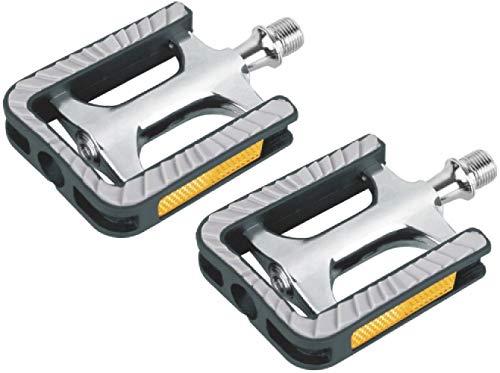 P4B Universal Pedal Modell 930, mit gedichteten Industrielagern (Z-System), für Trekking/Touren/City Alu-Non Slip-p4b, Silber/Schwarz/Grau 103 x 73 mm