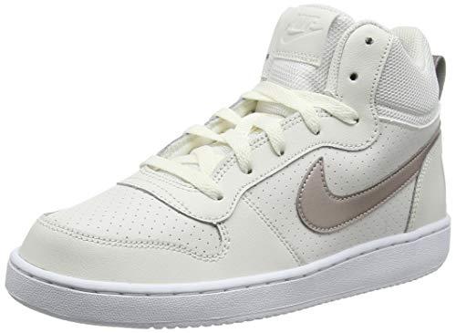 Nike Court Borough Mid (GS), Chaussures de Basketball Fille, Blanc (Phantom/MTLC Red Bronze-White...