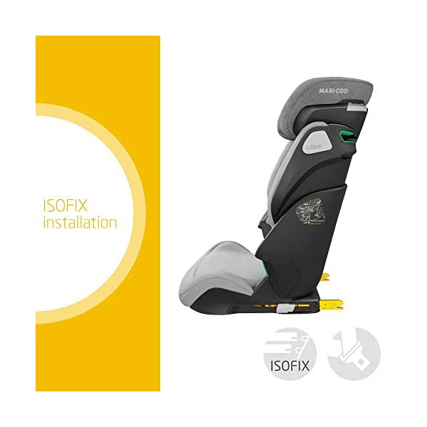 Maxi-Cosi Kore i-Size Child Car Seat, 3.5 - 12 years, 100 - 150 cm, Authentic Grey Maxi-Cosi Child car seat, suitable to use from 3.5 to 12 years (approx from 100 cm to 150 cm) ISOFIX installation is possible with this group 2/3 car seat for optimal stability Quick and easy to buckle up: This ISOFIX car seat is designed to enable children to get in and out and buckle up on their own in a few seconds 2
