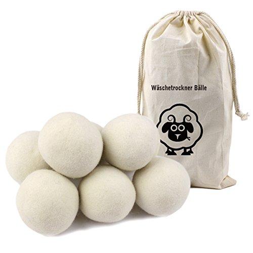 Litian 8er Pack 7cm Trocknerbälle, Aus 100% Premium-Schafwolle, Wäschetrockner Bälle für Wäschetrockner