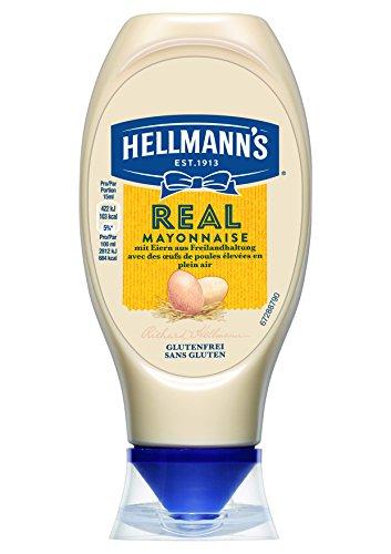 Hellmann's Real Mayonnaise (mit Rapsöl, ideal als Pommes und Burger Sauce und für Salat Dressings)...