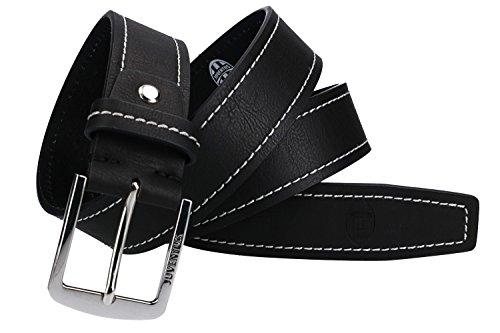 JUVENTUS - ENZO CASTELLANO Cintura uomo nera cinta con impunture VR1223-130 cm