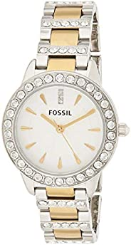 Fossil Women's Quartz Watch, Analog Display and Stainless Steel Strap Es