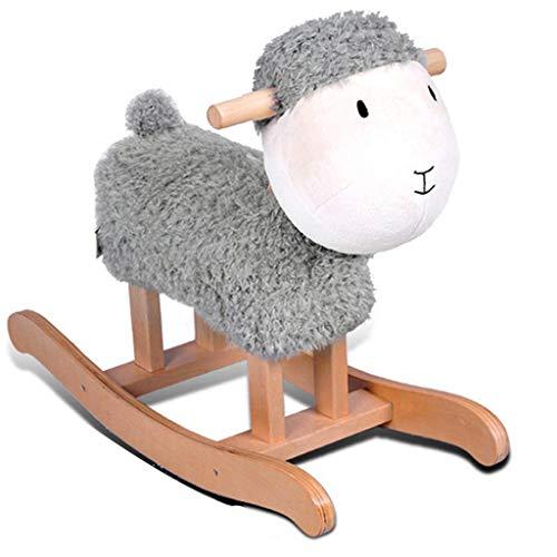 Moutons en Bois Massif Enfants Cheval À Bascule Trojan Enfants...