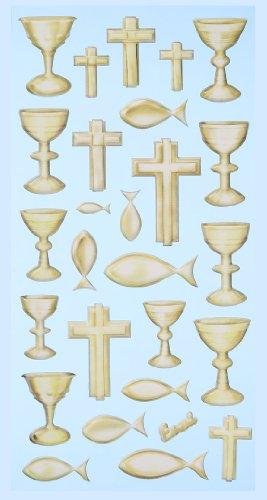 Creapop Sticker Softysticker * Konfirmation / Kommunion / Kirche - gold * Aufkleber 3451168