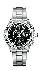 Idea Regalo - Orologio Uomo Automatico TAG Heuer display Cronografo cinturino Acciaio inossidabile Argento e quadrante Nero CAP2110.BA0833
