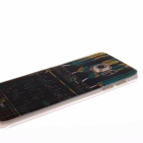 AllDo Coque iPhone 5C Housse Protection Etui Souple Flexible Coque TPU Silicone Soft Case Cas Motif Original Housse Ultra Mince Etui Poids Léger Couverture Anti Rayure Coquille Anti Choc - Londres Plume Aztéque