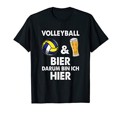 Volleyball und Bier T-Shirt Spieler Team Shirt Geschenk