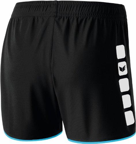 erima Damen Shorts 5-Cubes ohne Innenslip Schwarz/Curacao