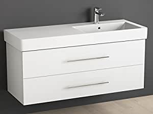 aqua bagno badm bel 120 cm inkl keramik waschtisch waschplatz rechts badezimmer m bel inkl. Black Bedroom Furniture Sets. Home Design Ideas