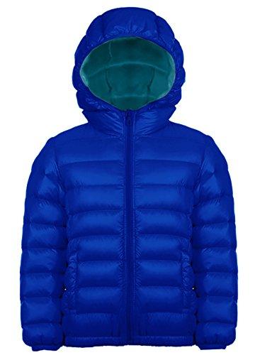 Jungen Outdoor Daunenjacke Sweatjacke Daunen Jacke winter kälteschutz Blau 130