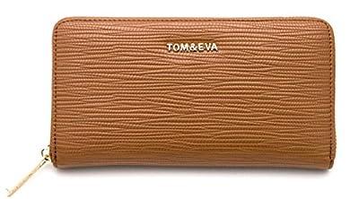 TOM&EVA Portefeuille Compagnon femme/Porte-Monnaie/Porte-carte/Portefeuille tout en un multifonction - Simili Cuir