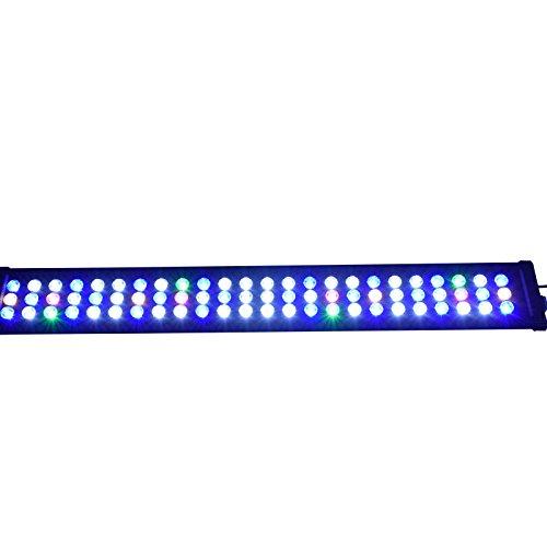 Aquarien Eco Aquarium LED Beleuchtung Lampe Leuchte für 90-120cm Süßwasser Meerwasser wasserpflanzen Koralle Aufsatzbeleuchtung Lichte (87cm 47w)ALED133